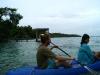 Practicando Kayak en la laguna de Bacalar