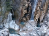 Base de la cascada congelada