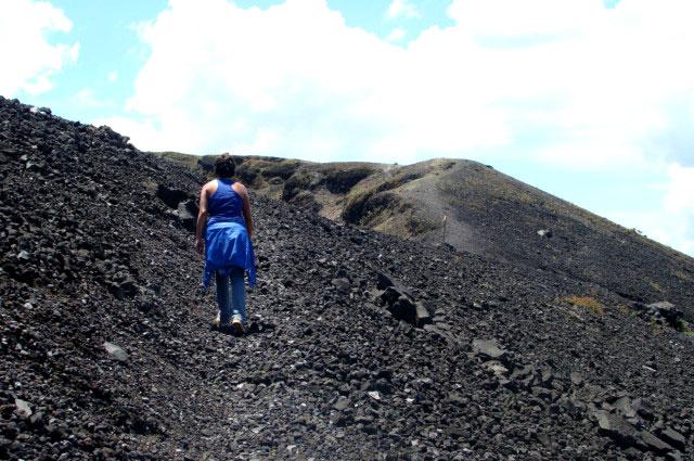 Subiendo al volcán Paricutín