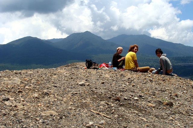 Picnic en la cima del Paricutín