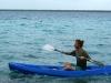Ale en kayak por la laguna de Bacalar