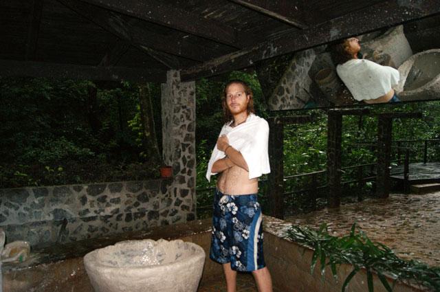 10. Ale saliendo del sauna