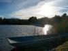 Atardecer a orillas del lago