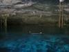 17 Eli haciendo snorkel en cenote 2 ojos