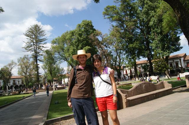 En la Plaza Vasco de Quiroga
