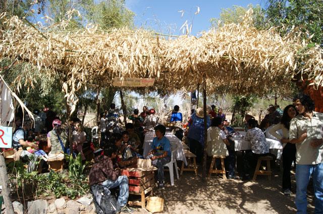 Lugar de comida en la feria